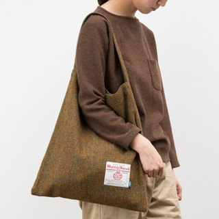 NTMY.Harris Tweed Tote Reese flower shoulder bag handbag