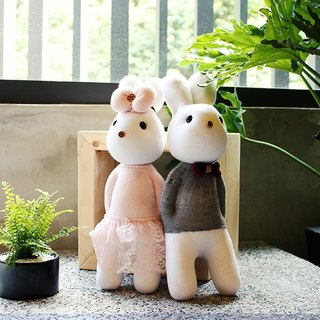 Handmade healing system - couple with rabbit free (total of six) design models
