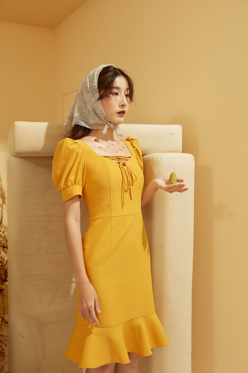 Andrea Dress - yellow