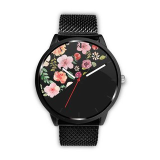 Floral Pattern Custom Design Watch by 2 Nerds