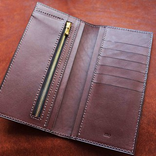 VULCAN Wallet thin change long clip Italian top INCAS tire leather three color optional