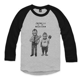 Shaun & Ed - Gray / Black - T-shirt Sleeve baseball
