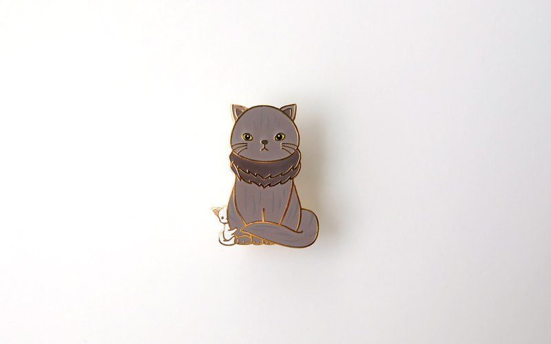 Cat of Thrones Enamel Pin, Cat Snow, Badge, Brooch, Pin, Accessories