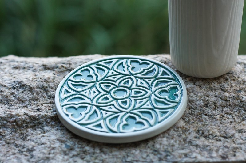 decoramics grilles coaster -Three Five Rose - Green - the only single product