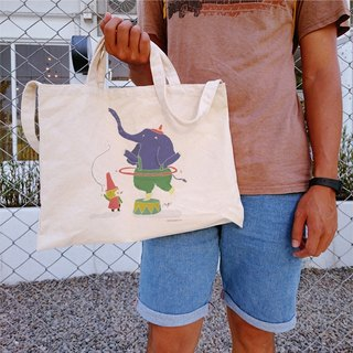 Cultural & Creative wind trainer horizontal canvas bag