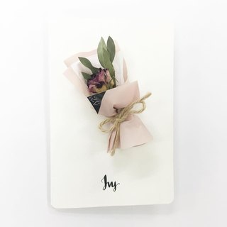 Air-dried Eucalyptus small roses wedding thank you card custom
