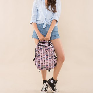 "SOLIS Happy House Series 13"" Ultra+ basic laptop backpack(Prism pink)"