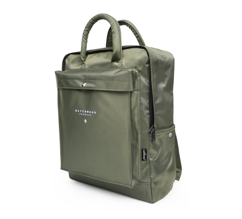 Matchwood Wood Design Matchwood Basic Backpack Backpack Khaki Army Green