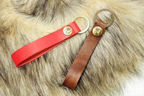 I Love You High quality pure copper tanned leather key ring (each can play 20 or less in English and numbers on the front)