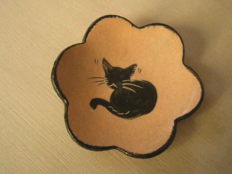 DoDo hand-made private message Animal Silhouettes Series - cat flower Singles (orange powder) * 1 Spot