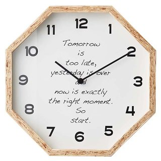 Balheary- Black/Whiteboard Silent Clock Wall Clock (White)