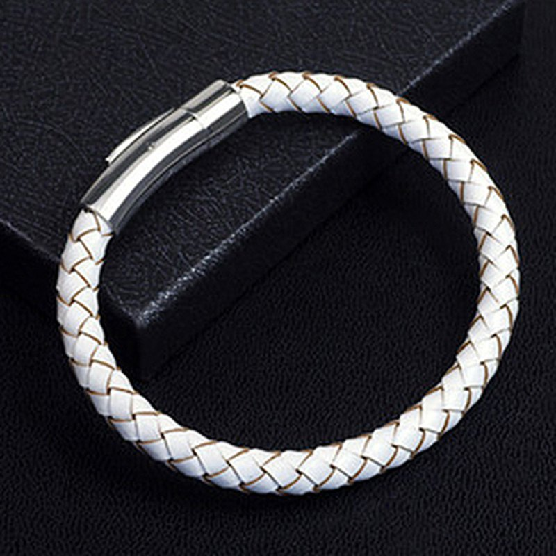 Braided leather bangle for Gents and Ladies