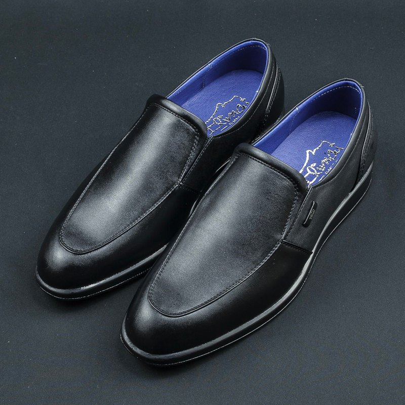 U-tip Basic Comfort Calfskin Shoes - Free Black