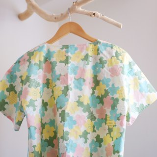 Japanese short version of handmade shirt cherry girl