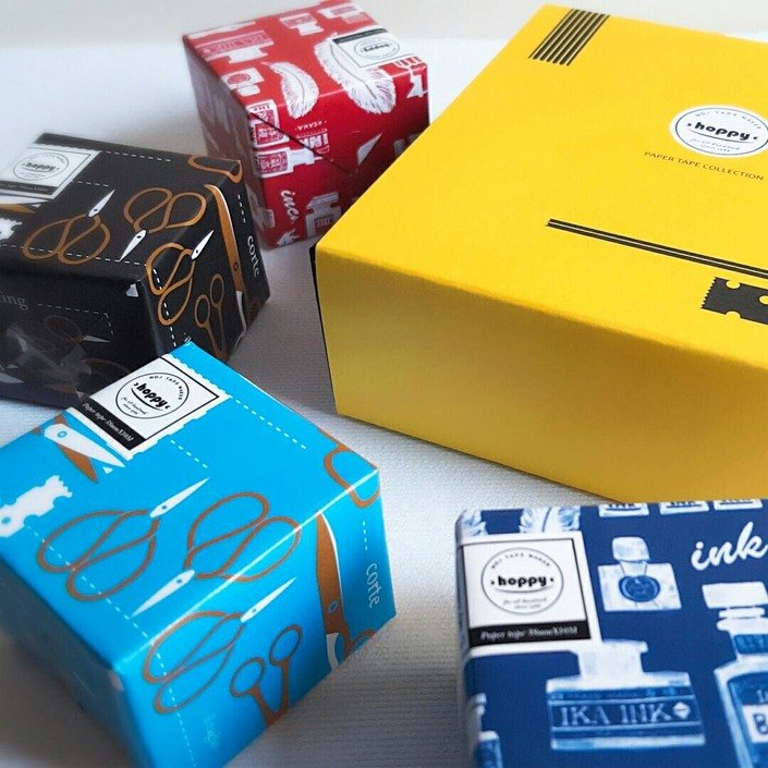 【Exchange Gift】 Paper Tape Gift Set - Stationery Tour Mini Box-stationery feast / GTIN: 4713077972649