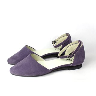 Pointed toe purple flats