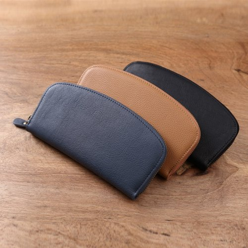 Arc Wallet handmade leather long clip Wallets