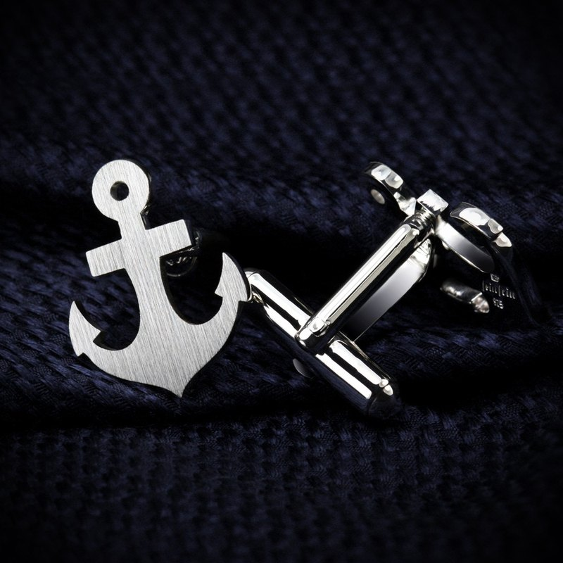 Anchor Cufflinks – Anchor jewerly for men – Navy Cufflinks for groom