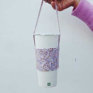Hand made eco-friendly glass cup bag bag / roll flowers