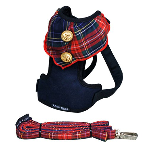 Pet Breast / chest with cats and dogs Universal Scotland gold buckle plus leash