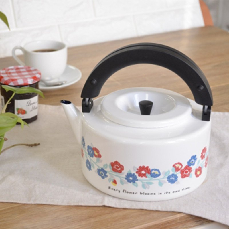 CB Japan Nordic Series Double Tea Pot - Flower White