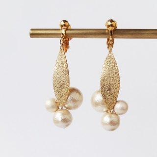 Stardust processing pearl fruit Earrings
