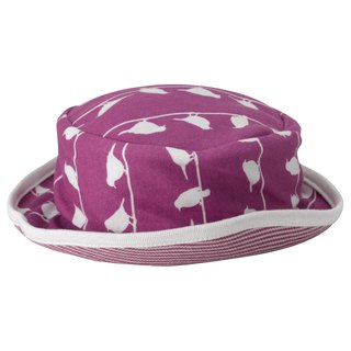100% organic cotton lavender purple toddler visor made in the UK