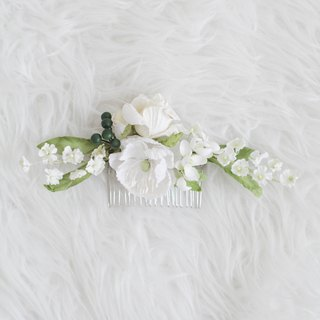 Snow White - Paper Flower Hair Comb