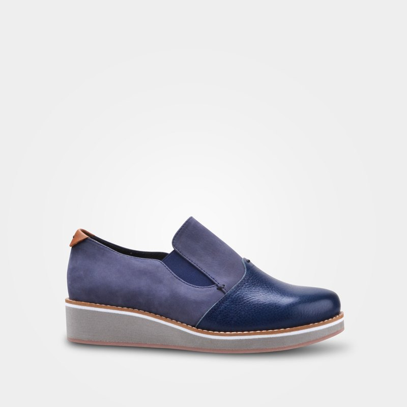 7D69 Japanese blue handmade casual shoes