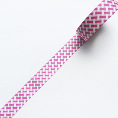 mt and paper tape Deco [woven Plaid - Pink (MT01D333)] 2016AW