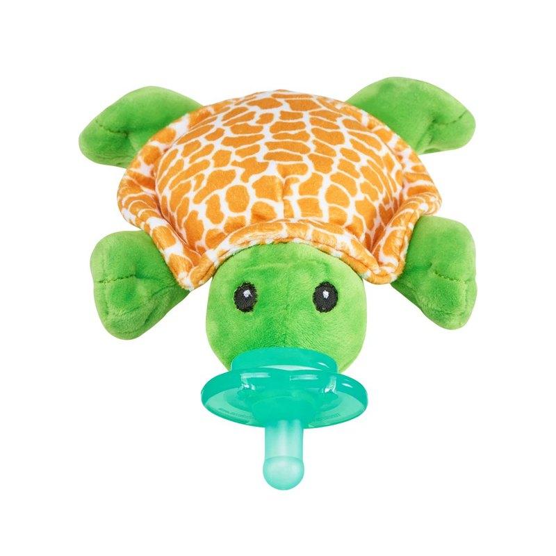美國 nookums 寶寶可愛造型 搖鈴款安撫奶嘴/玩偶-小漫龜