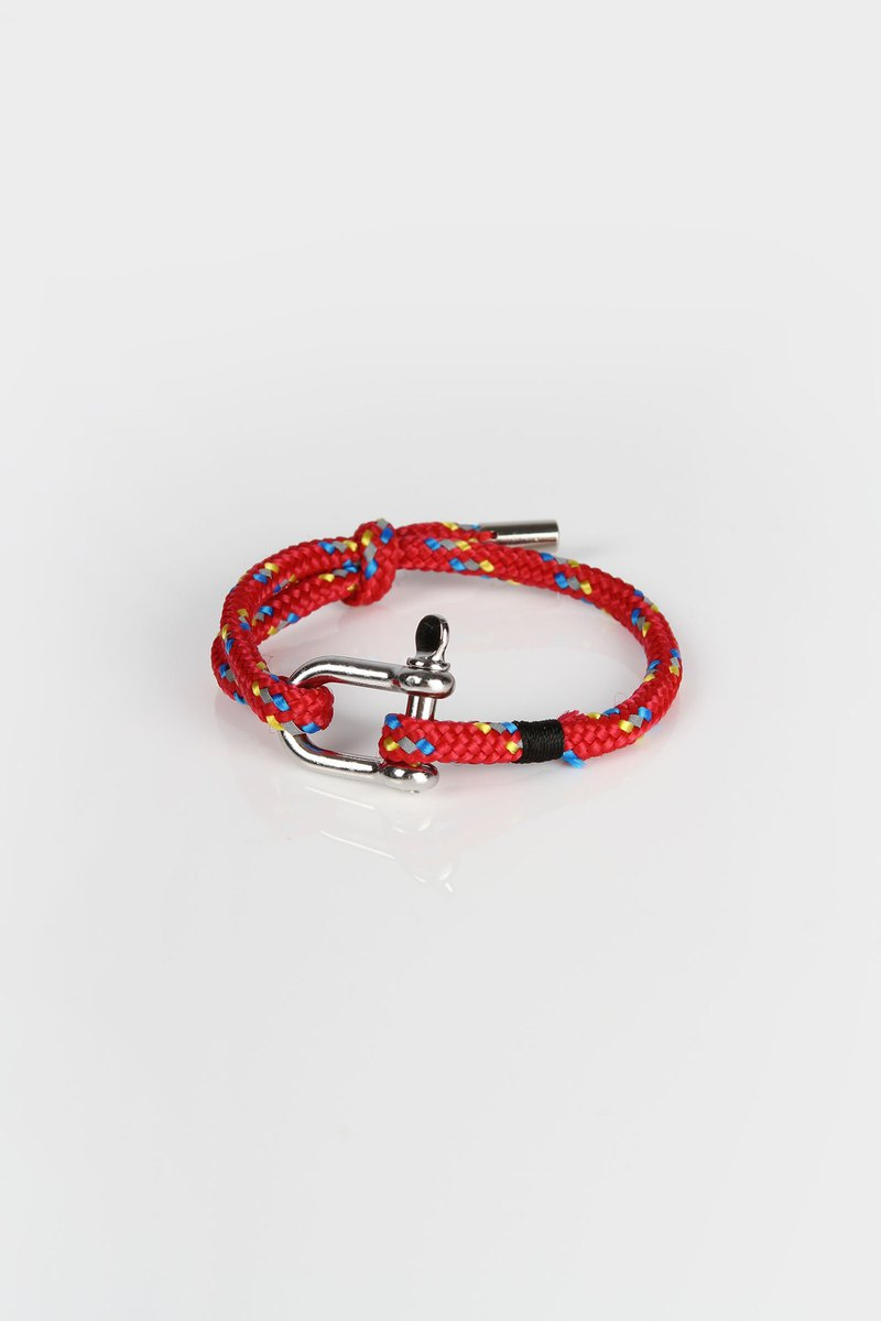 Reflective Braided Bracelet – Red