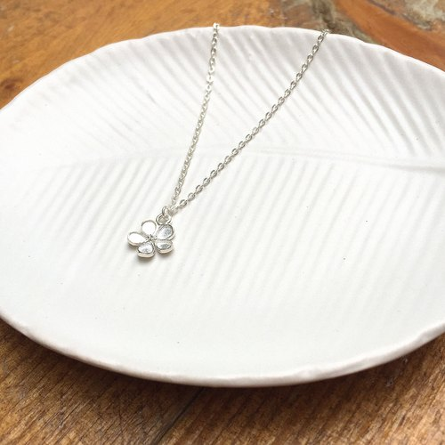 As beautiful as flowers | temperament flowers | sterling silver necklace