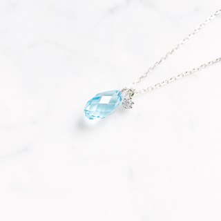 ::漾:: Light Blue - Clear Muscle Glow Cutting Clavicular Chain