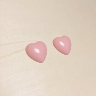 Vintage light pink love earrings ear clips