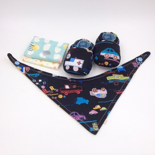 Car running - Miyue baby gift box (toddler shoes / baby shoes / baby shoes + 2 handkerchief + scarf)