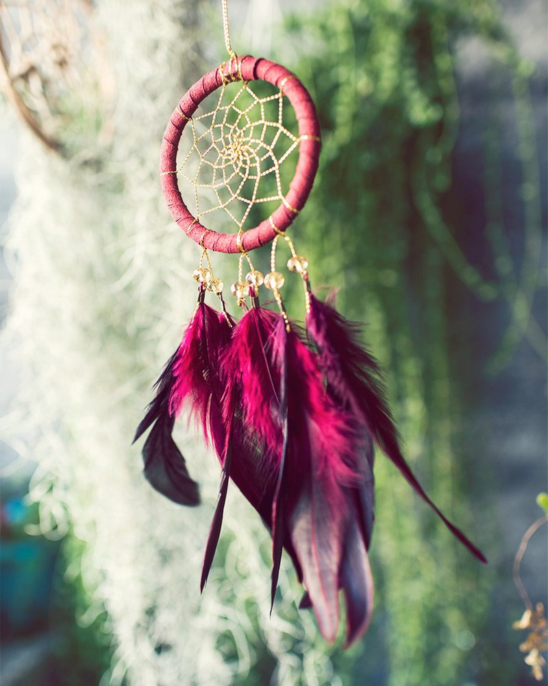Red Gold (exclusive design) Dream Catcher 8cm - Christmas exchange gift