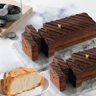 Free shipping Ai Bosuo [chocolate black gold brick 12cm 2 into + milk layer ice heart puff 5 into]