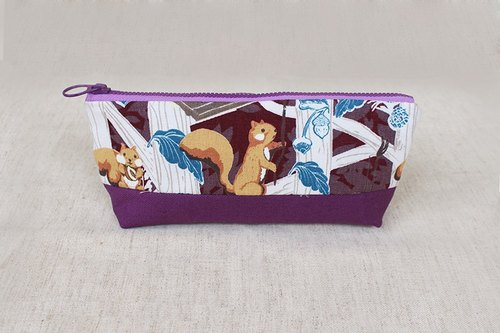 Splicing cloth bag pen - squirrel / pencil case storage bag universal bag