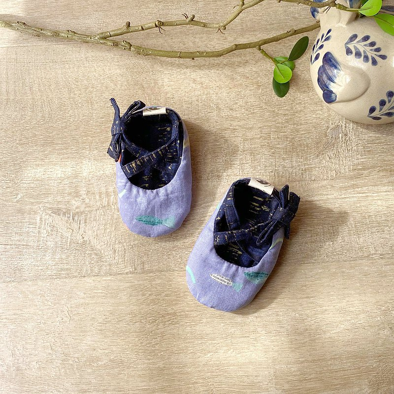 120 American small fish cotton X American dark blue noise manual strap baby shoes baby shoes toddler shoes