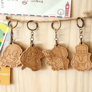 [customized gift] Eagle family / family portrait key ring