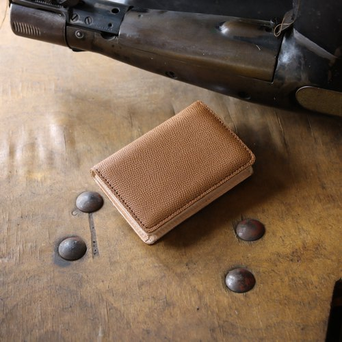 Japan Manufacturer's cowhide name One piece name piece Cups Kuraku Weinheimer made in JAPAN handmade leather card case