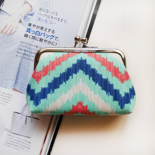 Heartbeat pulse big mouth purse / mouth gold package [Made in Taiwan]