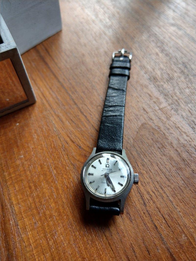 【稀有品】歐米茄OMEGA Genève 自動上鍊古董 錶 原廠真皮錶帶
