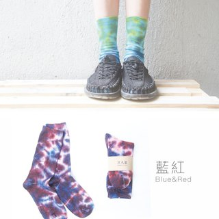 Tie Dye socks (blue,red)