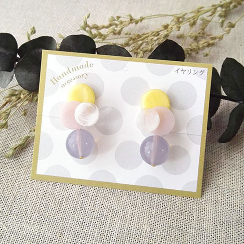 3colors earrings  Yellow