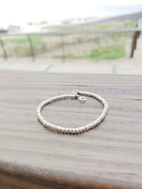 925 sterling silver wax rope beaded bracelet lucky bracelet simple section