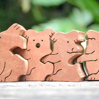 Small koala bear inseparable from each other ★ handmade wood