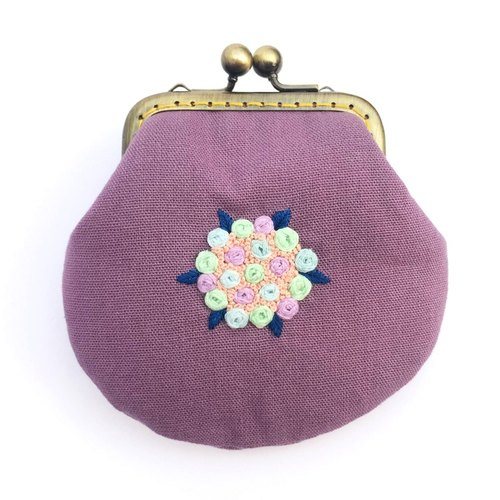Embroidery flower mouth gold small package