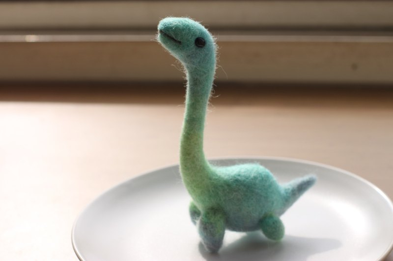 Water Green Gradient Loch Ness Monster Large Wool Felt Color Hand Dye Wool Making Customized